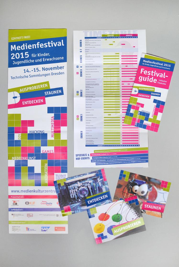Printmaterial Medienfestival 2015