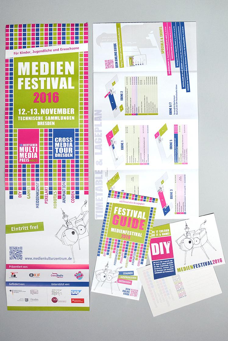 Printmaterial Medienfestival 2016